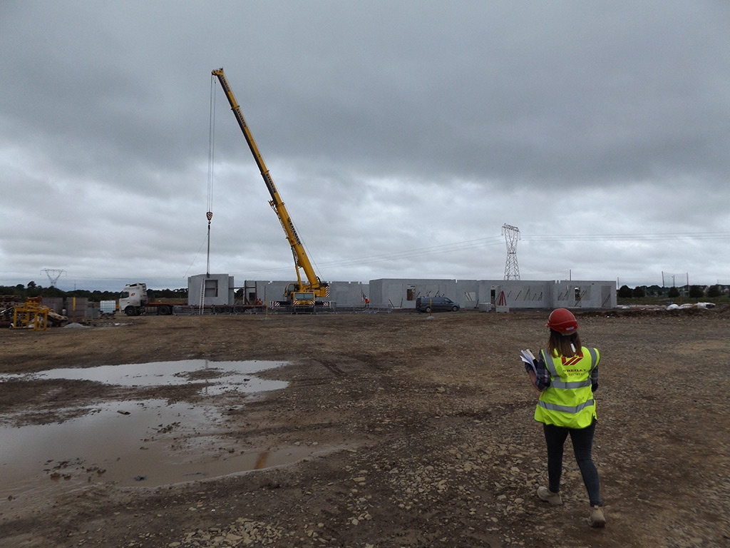 Ashling McArdle at site in Maynooth