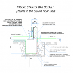 typical starter bar detail
