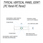 typical vertical panel joint